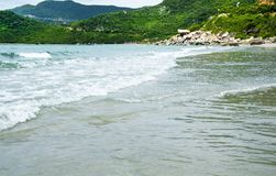 Surf on the South China Sea. Stock Photo