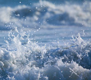 Surf with Splashing Water Drops stock photo