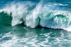 Surf and Spray, Fistral Beach, Cornwall royalty free stock images