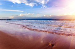 Surf strip in the sea on a sunset Royalty Free Stock Images