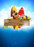 Surf and summer background Stock Photography