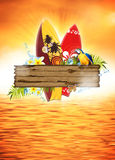 Surf and summer background Royalty Free Stock Images