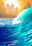Surf at Sunrise Stock Photo