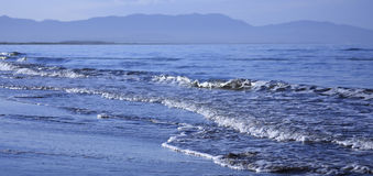 Surf during tide. Island Sakhalin Stock Photos