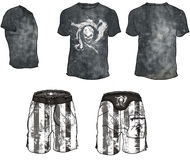 Surf Trends. Fashion Plates. Technical design for ultimate trends in surf-wear Stock Photography