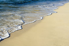 Surf on Tropical Beach. Surf lapping on a golden tropical beach Stock Image