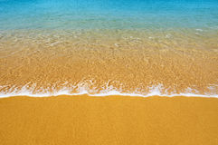 Surf on tropical beach - background Royalty Free Stock Photography