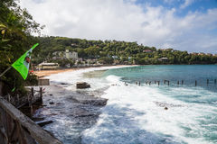 Surf at Tropical Beach Resort Royalty Free Stock Image