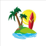 Surf in tropical paradise Stock Photography
