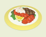 Surf and turf Stock Photography