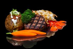 Surf and Turf royalty free stock photo