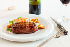 Surf and turf meal Stock Photos