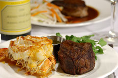 Surf and Turf Meal Stock Image