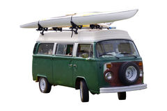 Surf Van Isolated Stock Photography