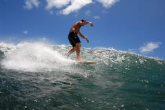 Surf waling the board Royalty Free Stock Photography
