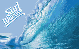 Surf Wave Splash Vector Royalty Free Stock Images