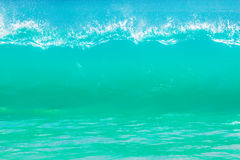 Surf waves and turqoise water Royalty Free Stock Images