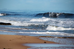 Surf on a Wintry Day Royalty Free Stock Image