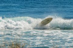 Surf wipeout at Ningaloo royalty free stock photo