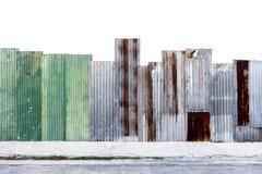 Surfa en acier galvanisé ondulé rouillé de feuillard de mur ou de fer photos stock