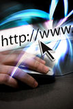 surfa för internet Arkivbilder