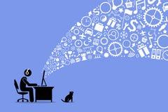 surfa för internet royaltyfri illustrationer