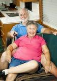 surfa för kanalrv-pensionärer Arkivfoton
