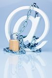 surfa för säkerhet för datainternet säkert arkivbild