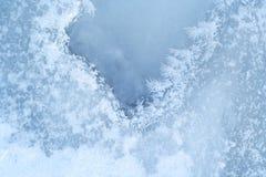 Surfa ice-bound del agua del primer Foto de archivo libre de regalías