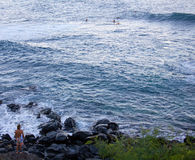 Surfa på Ho `-okipaen Royaltyfri Foto