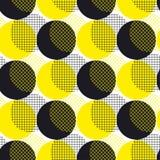 Surfa sem emenda da ilustração do vetor do teste padrão da geometria redonda amarela Foto de Stock Royalty Free