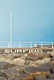 Surfa strand Arkivbilder