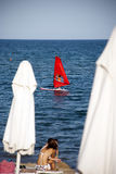 surfa wind arkivfoton