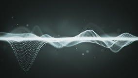 Surface abstraite de la science fiction des particules rougeoyantes Illustration Libre de Droits