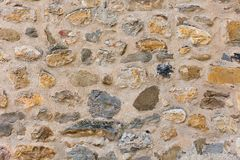 Surface of ancient wall of natural stone royalty free stock photos
