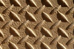 Surface antidérapante sur le passage couvert en métal Images stock