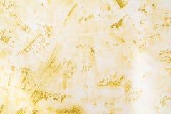 Surface antique de mur, texture jaune de plâtre décoratif, fond d'abstraction d'architecture photos stock