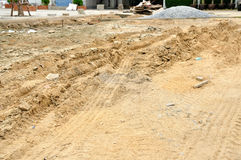 Surface area preparing for construction Royalty Free Stock Photo
