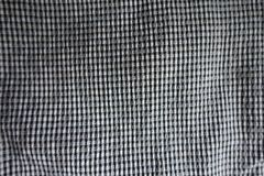 Surface of black and white checkered fabric Royalty Free Stock Image