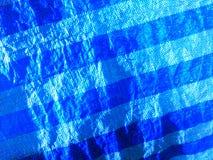 Surface bleue de toile et lignes diagonales modelées Photographie stock