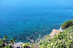 Surface of blue sea. Beautiful blue sea in Thailand. Clear water Stock Photos