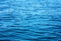 Surface of blue sea. Beautiful blue sea in Thailand. Clear water Royalty Free Stock Photography