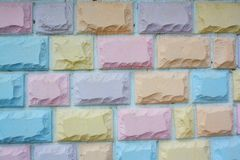 Surface and brick wall designs with beautiful vivid colors. For backgrounds and wallpapers royalty free stock images