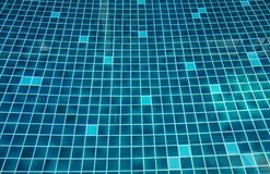 Surface of bright aqua blue mosaic glazed tile swimming pool background Royalty Free Stock Photography