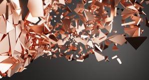 Surface brisée par résumé avec le fond chaotique de particules et poussières illustration libre de droits