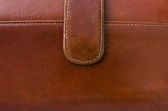 Surface of brown leather bag Royalty Free Stock Photography