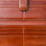 Surface of Brown leather wallet Stock Image