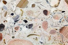 Surface of a carbonate rock. Royalty Free Stock Image