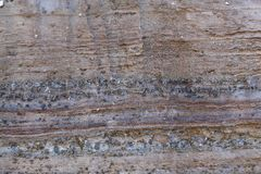 Surface of carbonate rock with weathering structures Stock Photo