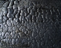 The surface of the coal. The surface of the black coal Royalty Free Stock Photography